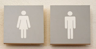 Restroom male and female sign Stock Image