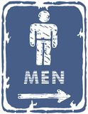 Restroom - Men Sign Stock Images