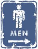 Restroom - Men Sign Stock Images
