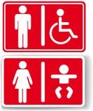 Restroom men women baby handicapped Stock Photography