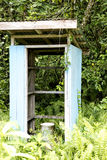 Restroom of school on Island in New Guinea Royalty Free Stock Images
