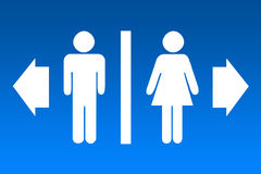 Restroom sign. S for men and women Stock Image