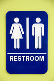 Restroom sign Royalty Free Stock Photo
