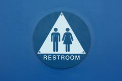 Restroom sign Stock Photo