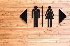 Restroom sign on concrete texture Stock Image