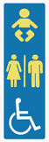 Restroom sign disabled Stock Photo
