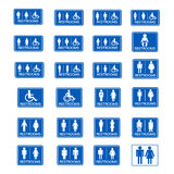 Restroom sign icon set Stock Photography