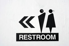 Restroom Sign Royalty Free Stock Photography