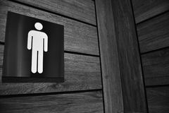 Men`s restroom sign. Royalty Free Stock Image