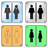 Restroom Sign with Man and Woman Royalty Free Stock Photo