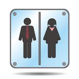 Restroom sign with man and woman Stock Image