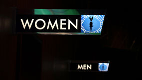 Restroom sign. For men and women Stock Photography