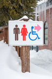 Restroom sign Royalty Free Stock Photos