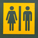 Restroom sign symbol for men and women Royalty Free Stock Image
