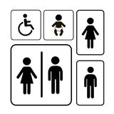 Restroom Sign vector Stock Images