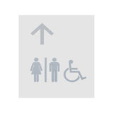 Restroom sign on white wall background Royalty Free Stock Photos