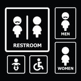 Restroom Sign. For your design Stock Image