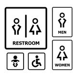 Restroom Sign. For your design Royalty Free Stock Images