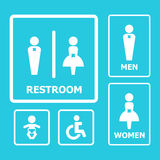 Restroom Sign Royalty Free Stock Image