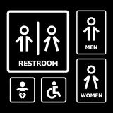 Restroom Sign. For your design Stock Photo