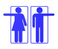 Restroom Signs. In man and Lady icon Royalty Free Stock Photography