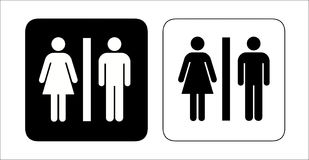 Restroom signs. For men and women Stock Photography