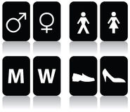 Restroom Signs. Vector illustration of restroom signs Royalty Free Stock Photos