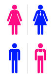 Restroom signs. Joke toilet signs for gay bar. Vector Royalty Free Stock Photography