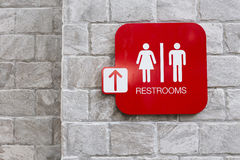 Restroom signs with female and male symbol Royalty Free Stock Image