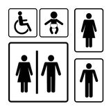 Restroom signs Stock Images