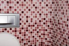 restroom Sitio y pared de tejas, retrete imagen de archivo libre de regalías