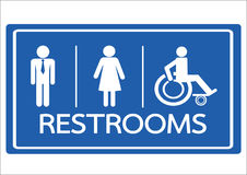 Restroom Symbol Male  Female and Wheelchair Handicap Icon Stock Photography