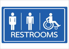 Restroom Symbol Male  Female and Wheelchair Handicap Icon Royalty Free Stock Photography