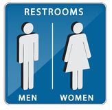 Restroom or toilet sign Royalty Free Stock Photos