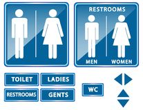 Restroom or toilet sign. Illustration Royalty Free Stock Photography