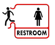 Restroom and toilet sign plate Royalty Free Stock Images