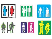 Restroom, Toilet, Wc symbol. Toilet sign - WC women/men Royalty Free Stock Images