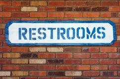 Restroom-Zeichen Stockfoto