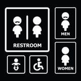 Restroom-Zeichen Stockbild
