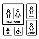 Restroom-Zeichen Lizenzfreie Stockbilder