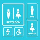 Restroom-Zeichen Lizenzfreies Stockbild