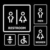 Restroom-Zeichen Stockbilder