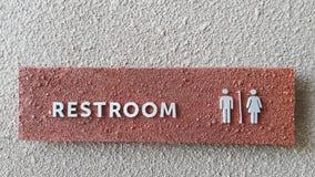 Restroom-Zeichen Stockfotografie