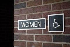 Restroom-Zeichen der Frauen Lizenzfreies Stockfoto