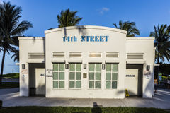 Restrooms in Art Deco Style at the Ocean Drive in South Beach Miami Royalty Free Stock Images