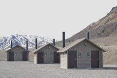 Restrooms in der Wildnis Lizenzfreies Stockfoto
