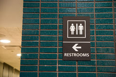 Restrooms sign Stock Photography