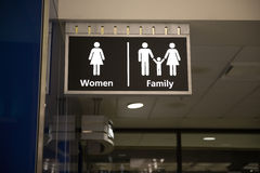 Restrooms sign Stock Photos