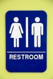 Restroomzeichen Lizenzfreies Stockfoto