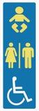 Restroomzeichen abgeschalten Stockfoto
